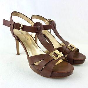 Marc Fisher Varica2 Platform T-Strap Sandals Size8